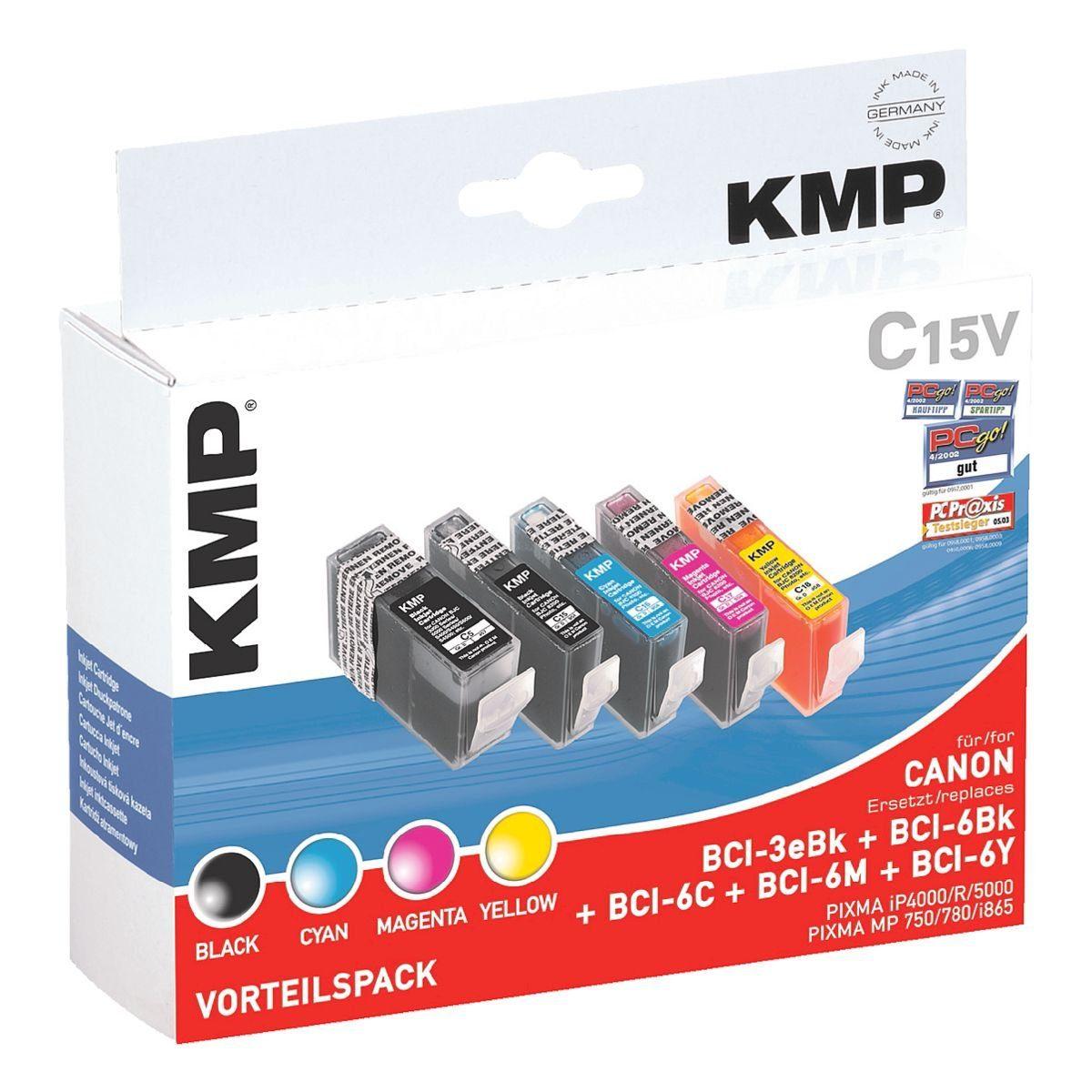 KMP Tintenpatronen-Set ersetzt Canon »BCI-3BK/BCI-6BK/C/M/Y...