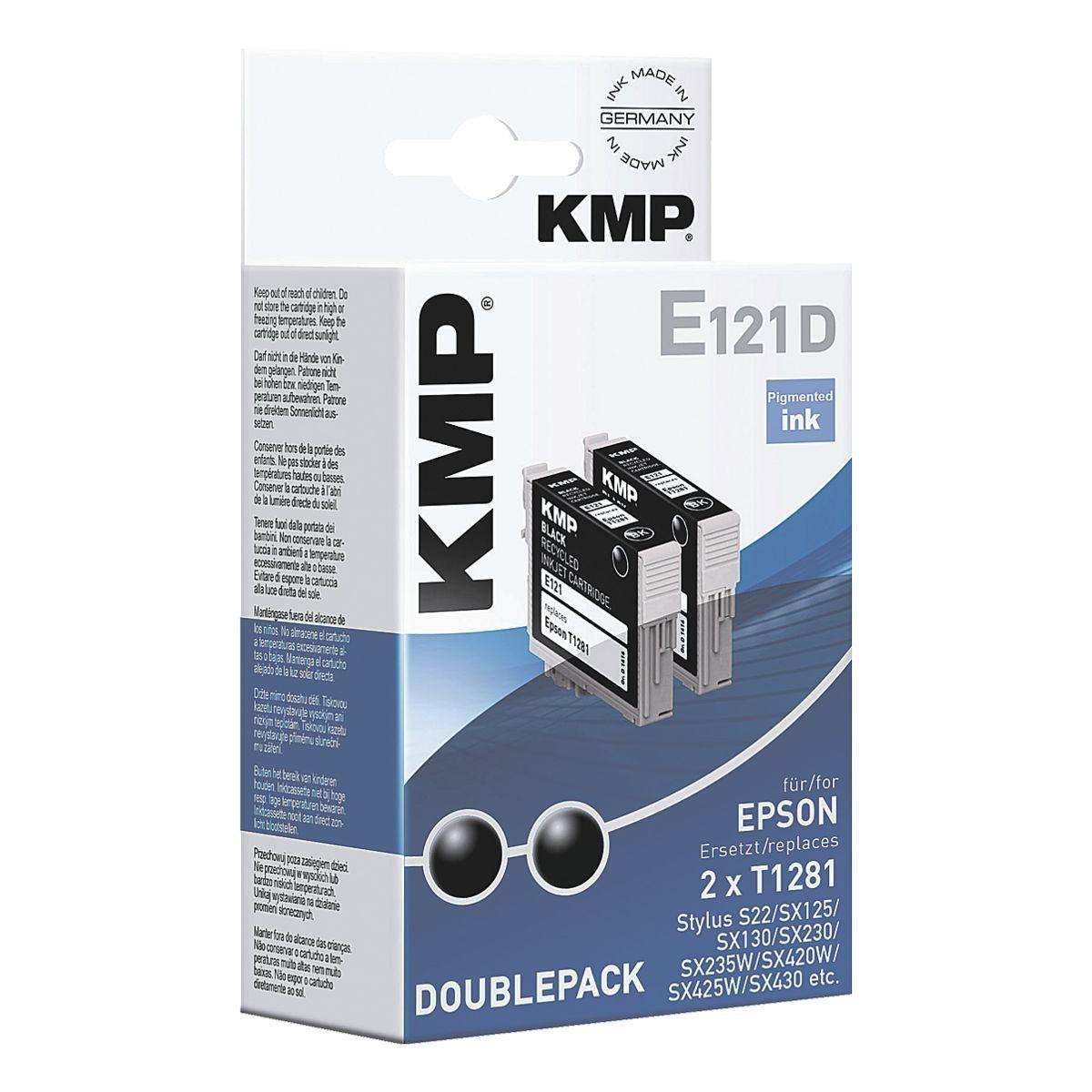 KMP 2er-Pack Tintenpatrone ersetzt Epson »T1281«