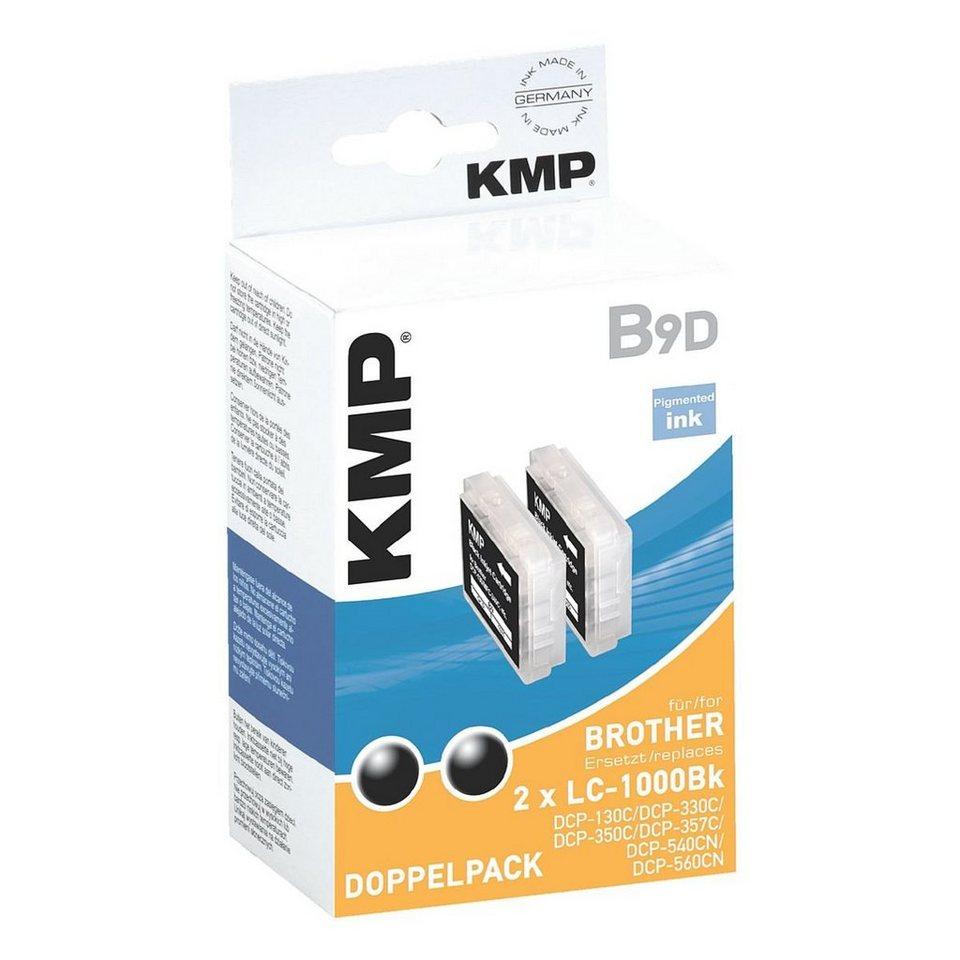 KMP 2er-Pack Tintenpatrone ersetzt Brother »LC-1000Bk«