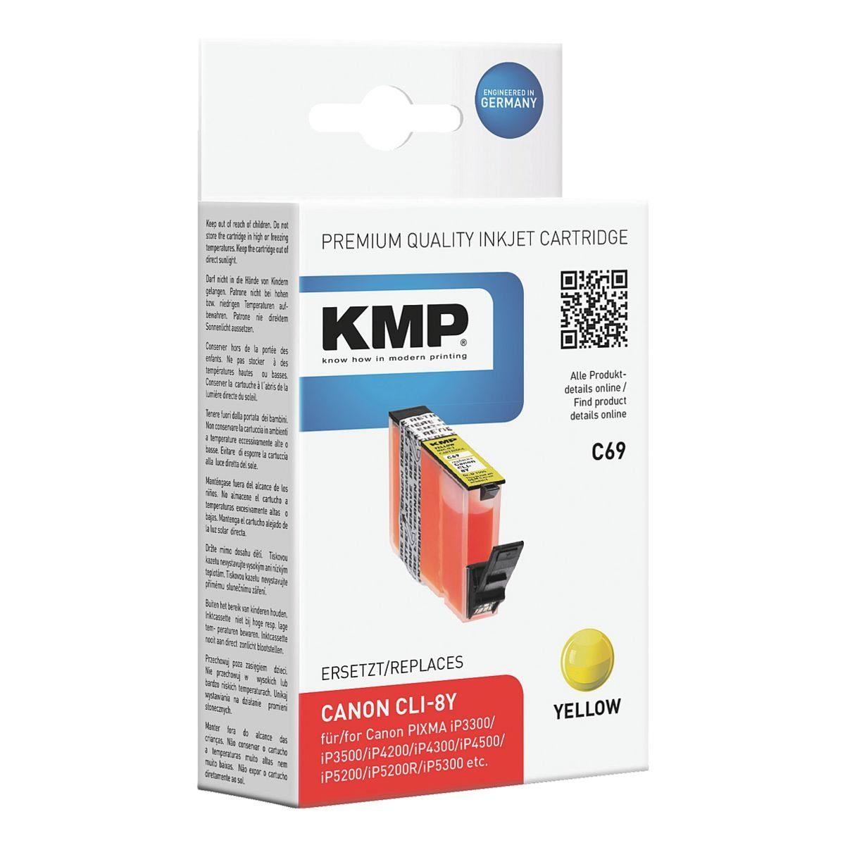 KMP Tintenpatrone ersetzt Canon »CLI-8Y«