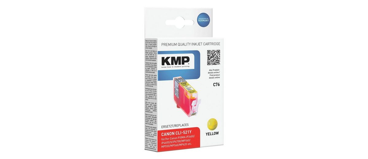 KMP Tintenpatrone ersetzt Canon »CLI-521Y«