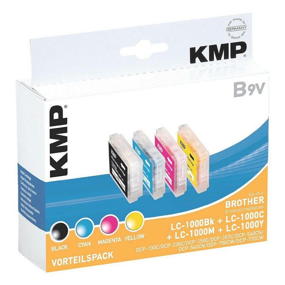 KMP Tintenpatronen-Set ersetzt Brother »LC-1000BK/C/M/Y«