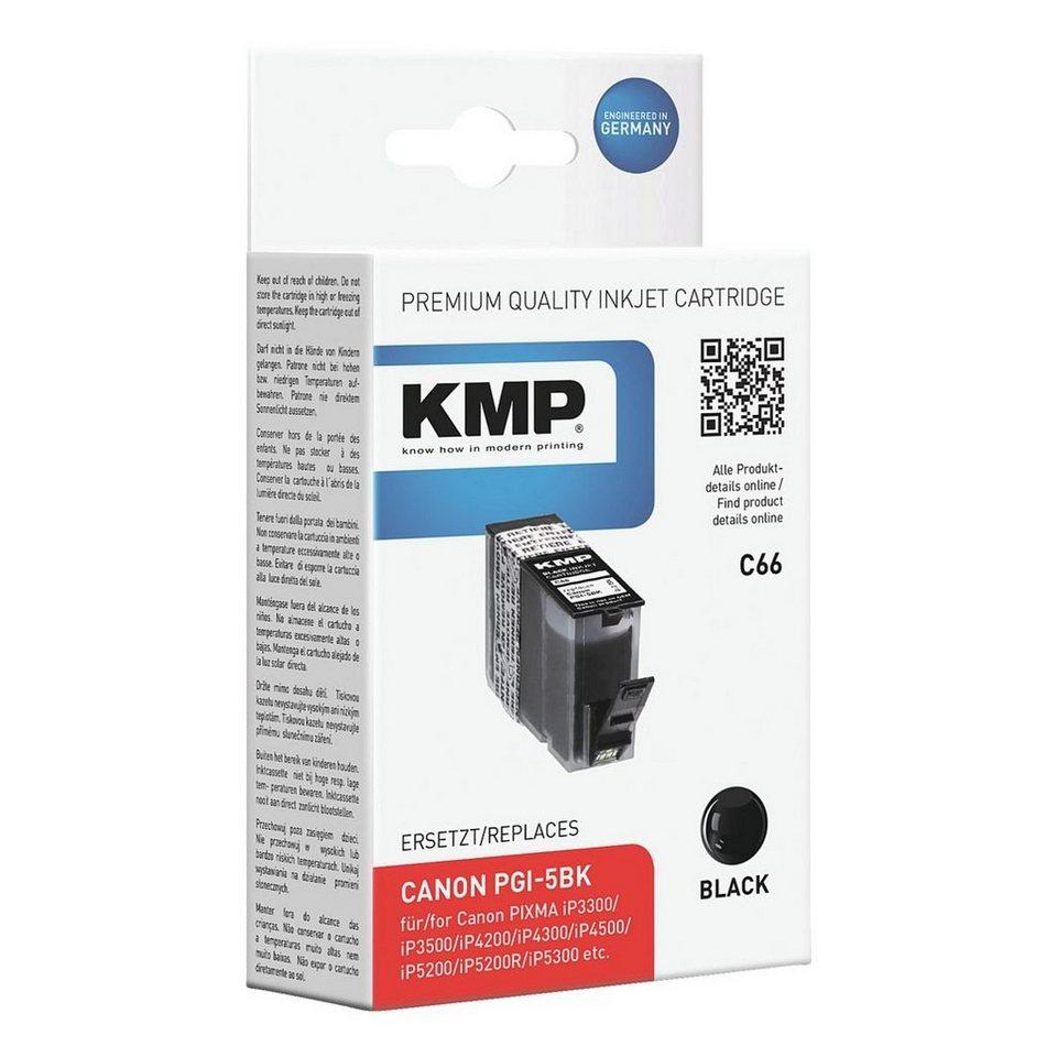 KMP Tintenpatrone ersetzt Canon »PGI-5Bk«