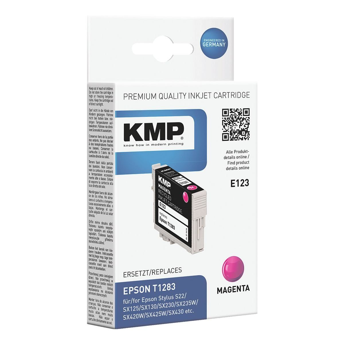 KMP Tintenpatrone ersetzt Epson »T1283«