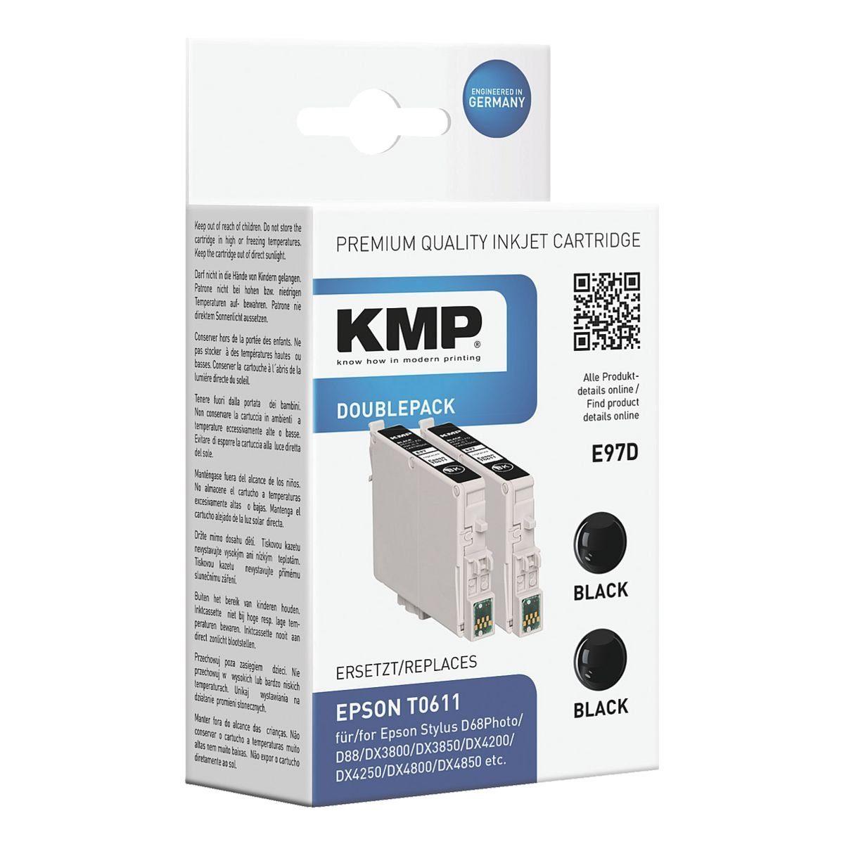 KMP 2er-Pack Tintenpatrone ersetzt Epson »T061140«