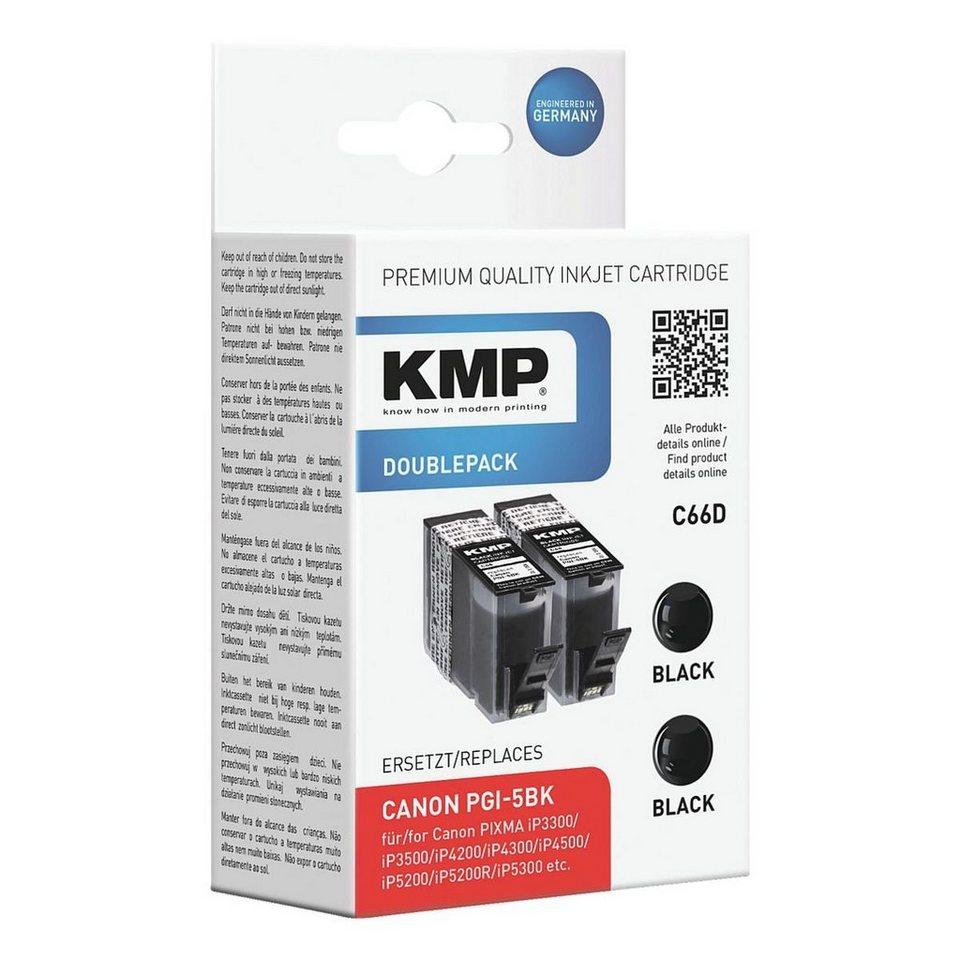 KMP 2er-Pack Tintenpatrone ersetzt Canon »PGI-5Bk«