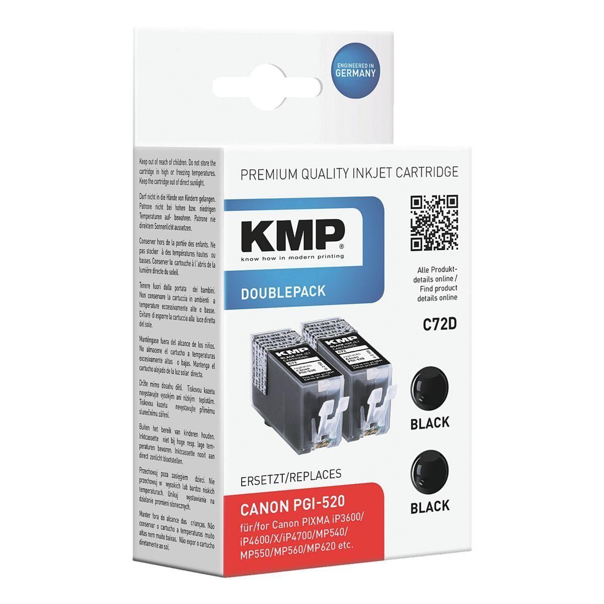 KMP 2er-Pack Tintenpatrone ersetzt Canon »PGI-520«