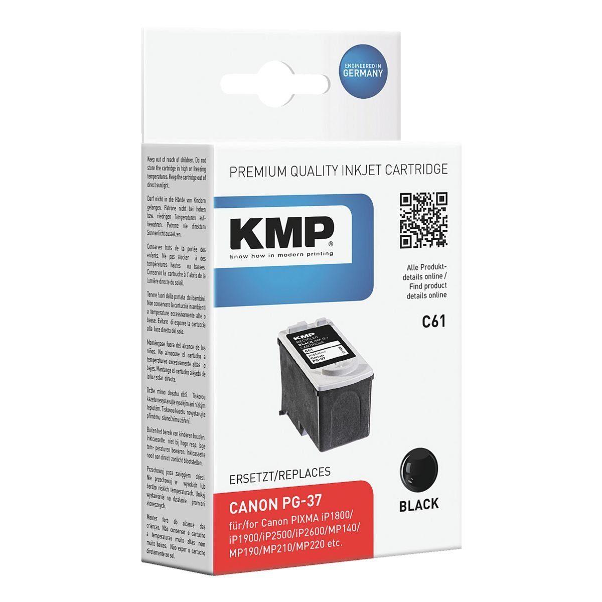KMP Tintenpatrone ersetzt Canon »PG-37«