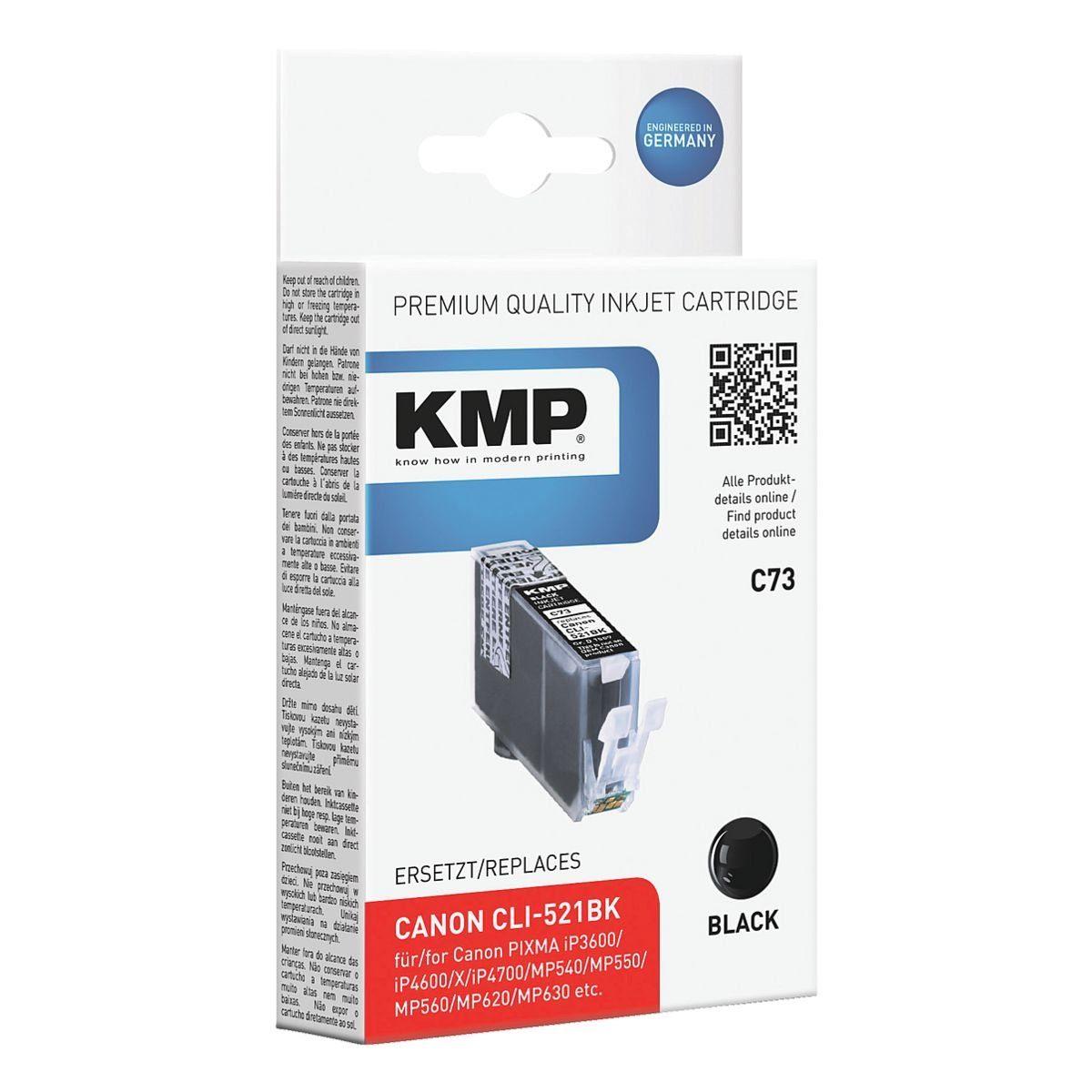 KMP Tintenpatrone ersetzt Canon »CLI-521Bk«