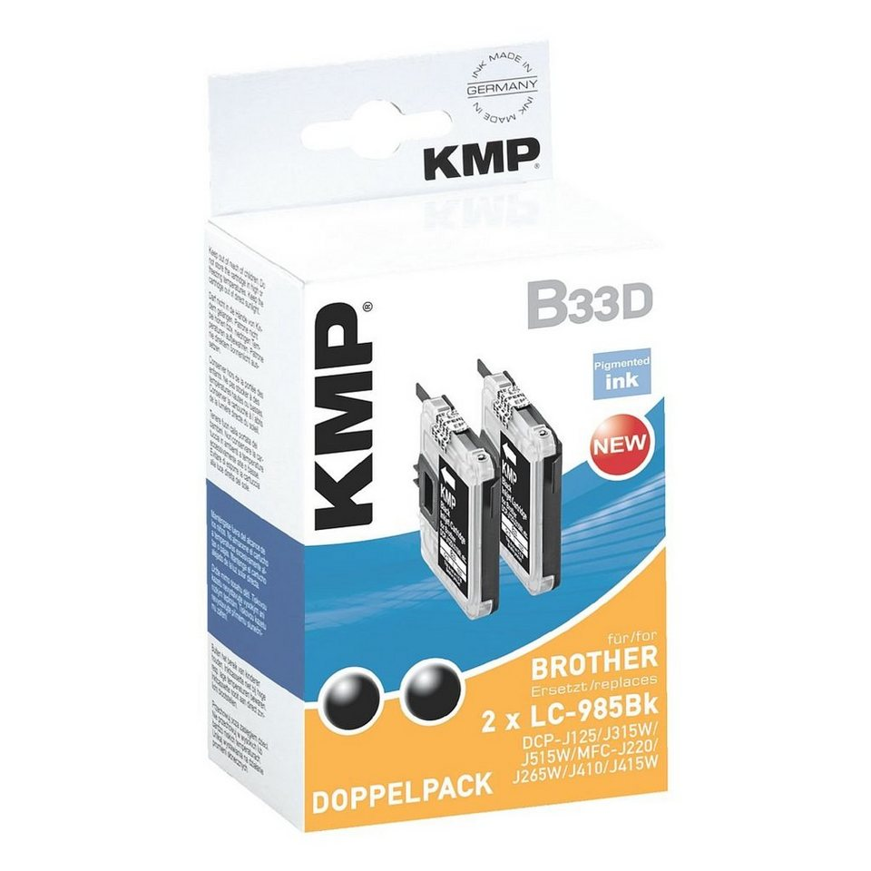 KMP 2er-Pack Tintenpatrone ersetzt Brother »LC-985Bk«