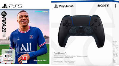 Product Image FIFA 22 + DualSense Controller Midnight Black (PlayStation 5)