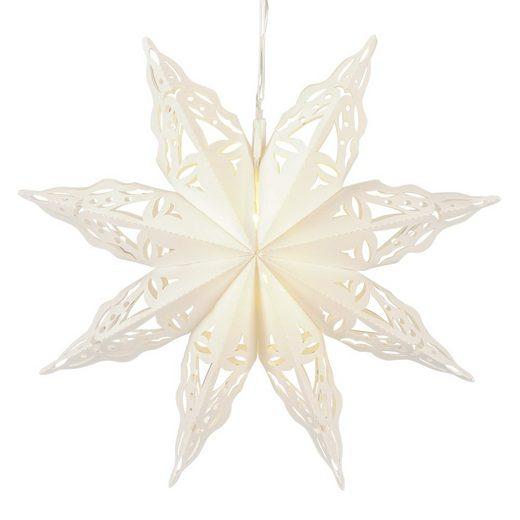 Posiwio Lichterkette »Outdoor LED Stern JUL weiß aus Kunststoff mit Beleuchtung Weihnachten D56cm«