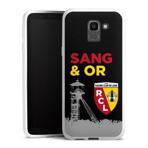 DeinDesign Handyhülle »Tower Sang Or« Samsung Galaxy J6 Duos (2018), Hülle Offizielles Lizenzprodukt RCL Racing Club de Lens