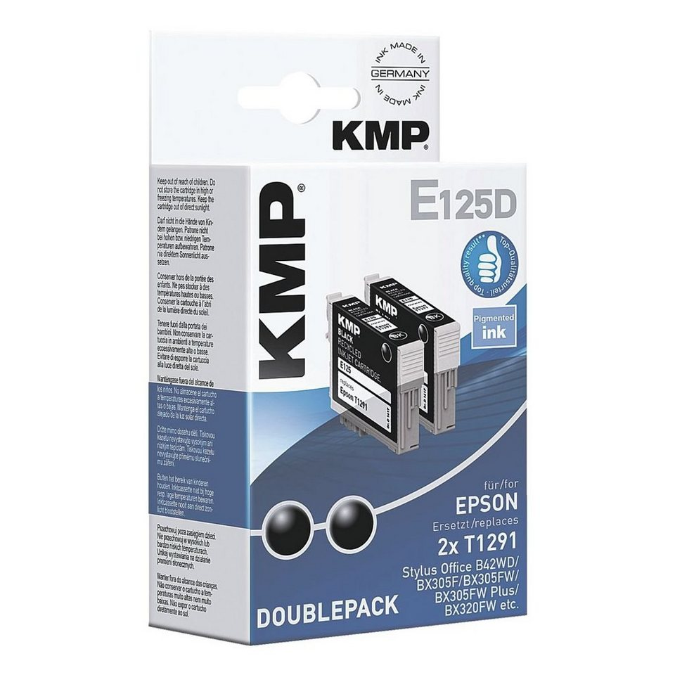 KMP 2er-Pack Tintenpatrone ersetzt Epson »T1291«