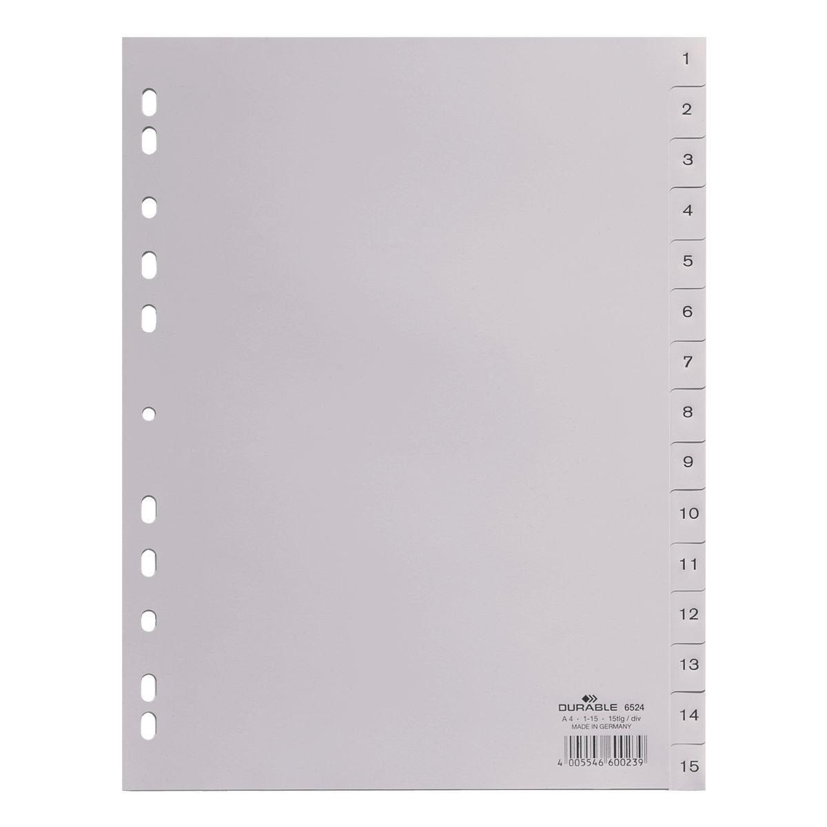 DURABLE Kunststoffregister 1-15 A4