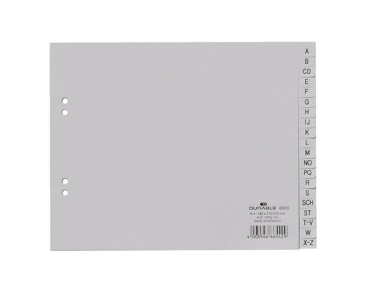 Durable Kunststoffregister A-Z halb A4