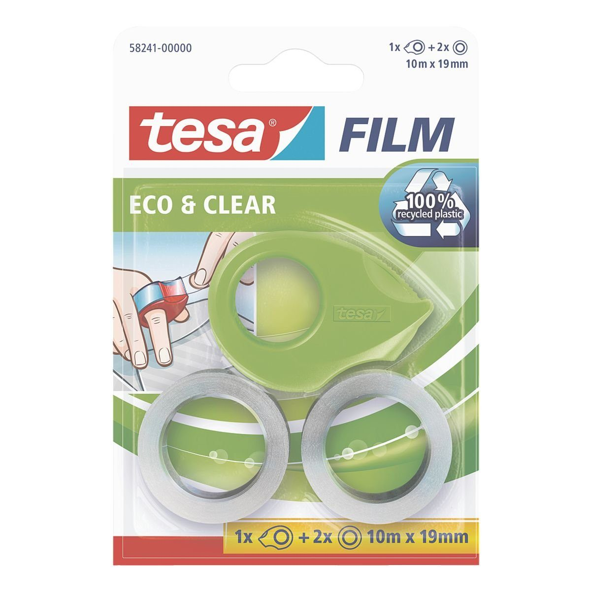 Tesa 2er-Set Klebeband mit Mini-Abroller »eco & clear«