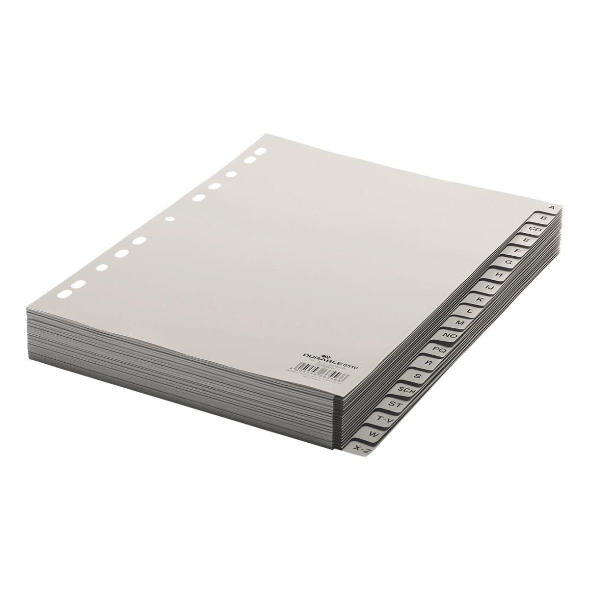Durable Kunststoffregister A-Z 20-teilig A4