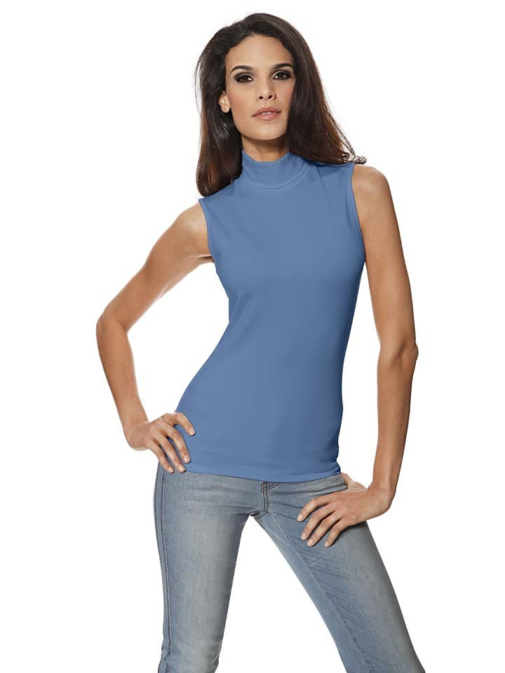 PATRIZIA DINI by Heine Rollkragen-Top Tactel in blau