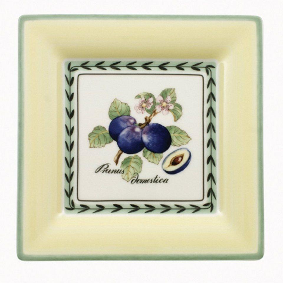 VILLEROY & BOCH Frühstücksteller Quadrat 21cm »French Garden Macon« in Dekoriert