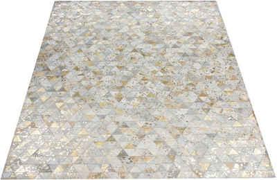 Lederteppich »Amir«, Leonique, rechteckig, Höhe 8 mm, Wohnzimmer
