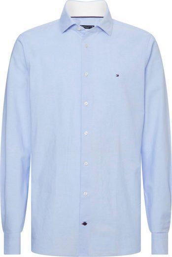 Tommy Hilfiger TAILORED Businesshemd »WASHED OXFORD CLASSIC SLIM SHIRT« strukturiert, washed, Slim Fit