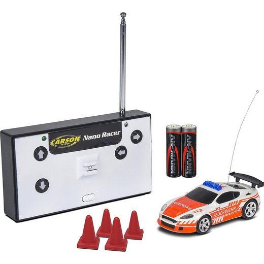 CARSON Spielzeug-Auto »1:60 Nano Racer Feuerwehr 27MHz 100% RTR«