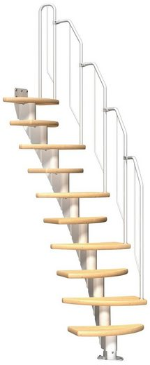 Dolle Mittelholmtreppe »Berlin«, für Geschosshöhen bis 270 cm, Stufen offen, variabler Treppenlauf