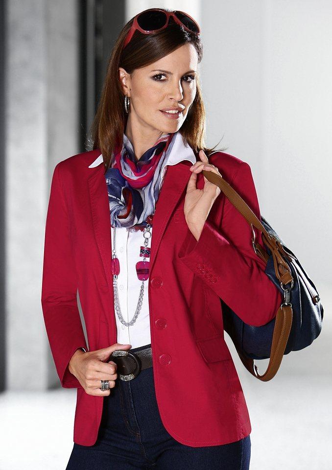 Classic Inspirationen Blazer aus leichter Baumwoll-Stretch-Qualität in rot