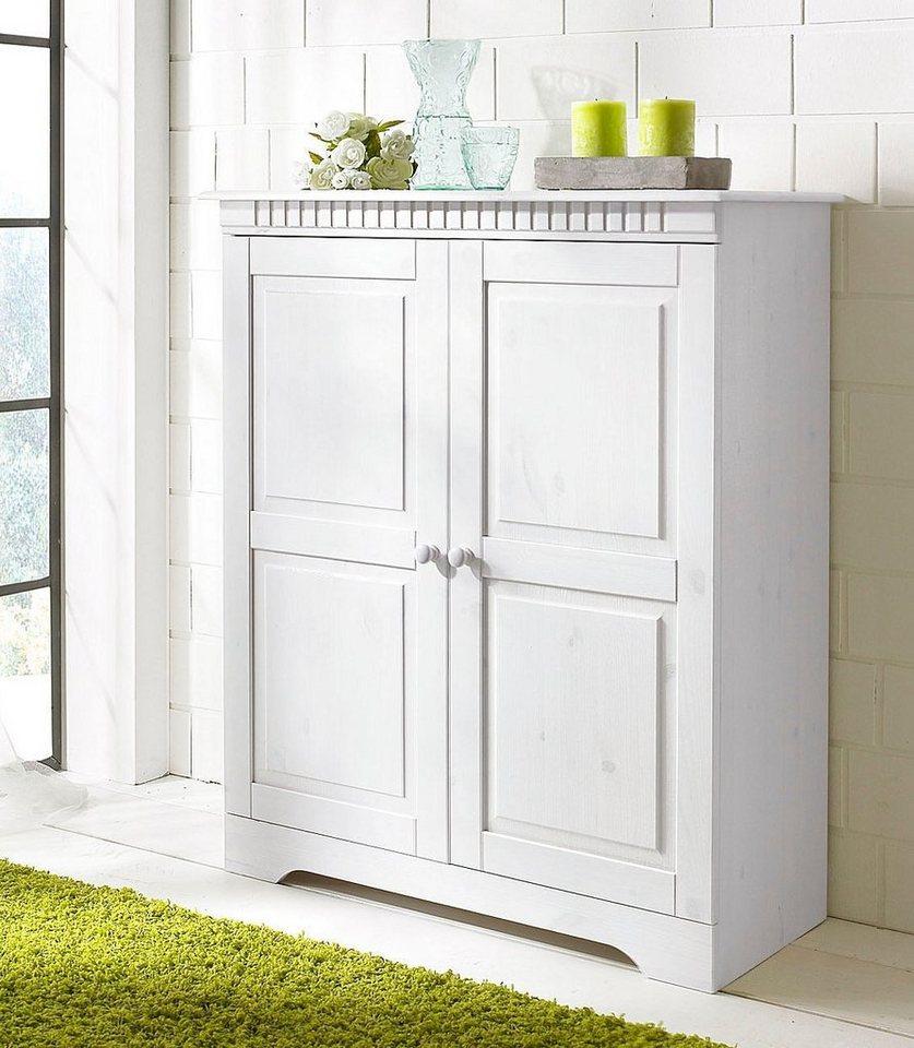 Kommode, Home affaire, Breite 86 cm, Höhe 100 cm in weiß