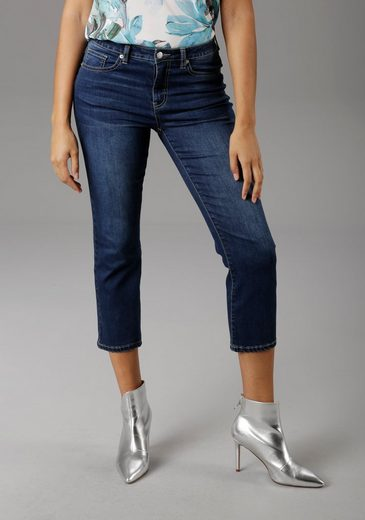 Aniston SELECTED Straight-Jeans in verkürzter cropped Länge - NEUE KOLLEKTION