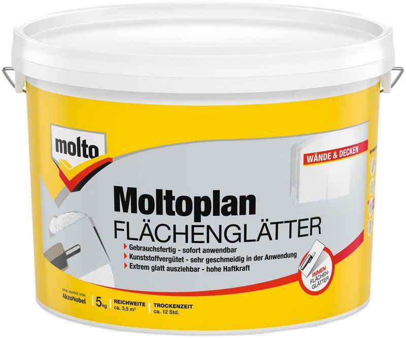 Molto Fertigspachtel »Flächenglätter Moltofill«, gebrauchsfertig, weiß, 5 kg