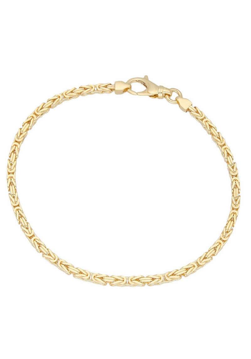 Firetti Goldarmband »Prächtige Königskettengliederung, 2,5 mm breit, diamantiert, massiv«