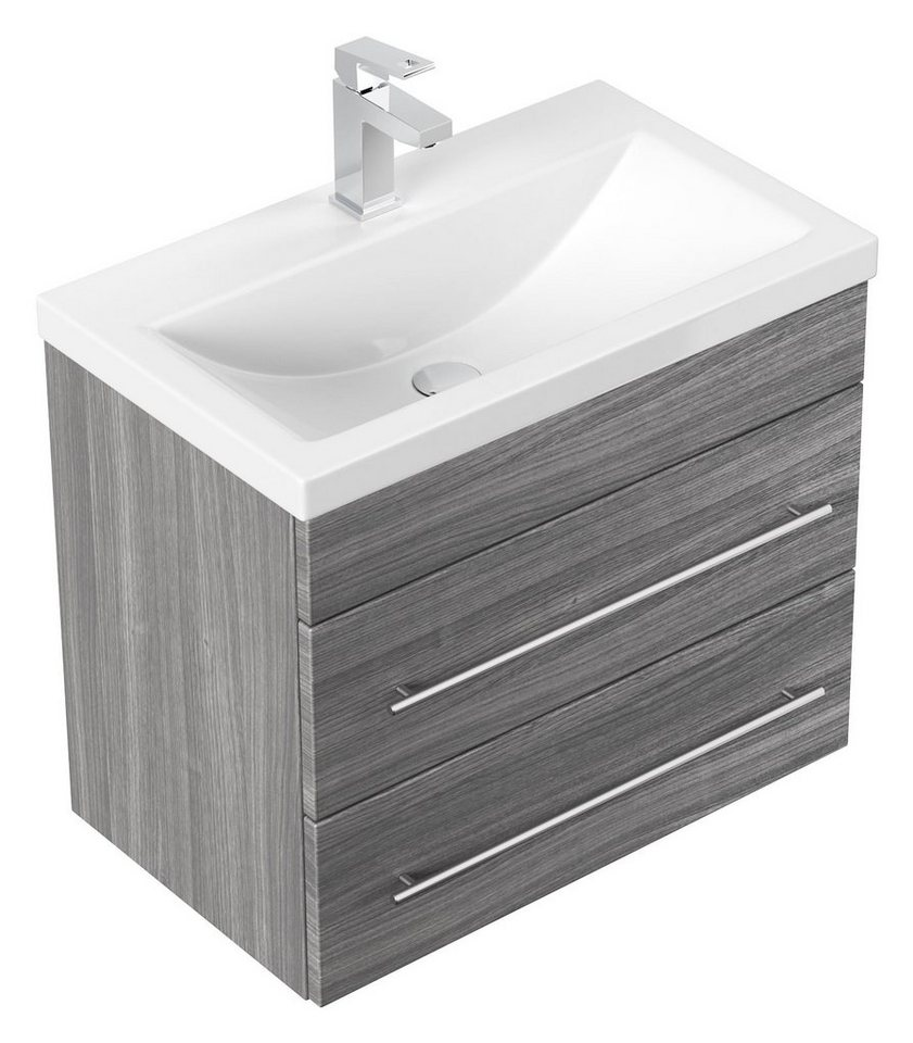 Badmöbel Mars SlimLIne Waschbecken mit besonders schmaler Tiefe für Gästebad