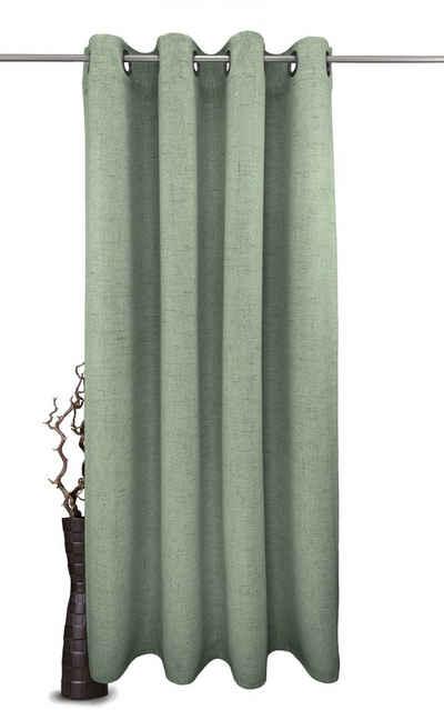 Vorhang nach Maß »Rustika«, VHG, Ösen (1 Stück), Struktur, Breite: 145 cm