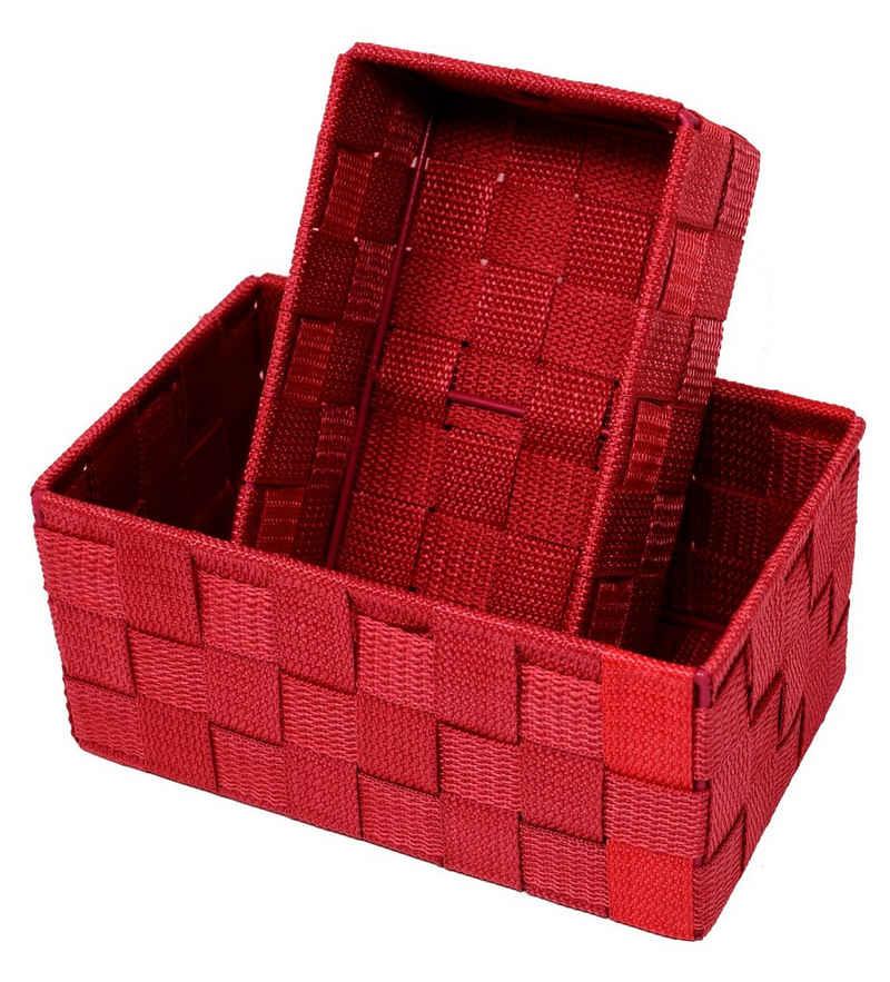 Lashuma Aufbewahrungskorb (Set, 2 Stück), 1x Badkorb 19x10x7 cm, 1x Aufbewahrungsbox 20x13x10 cm