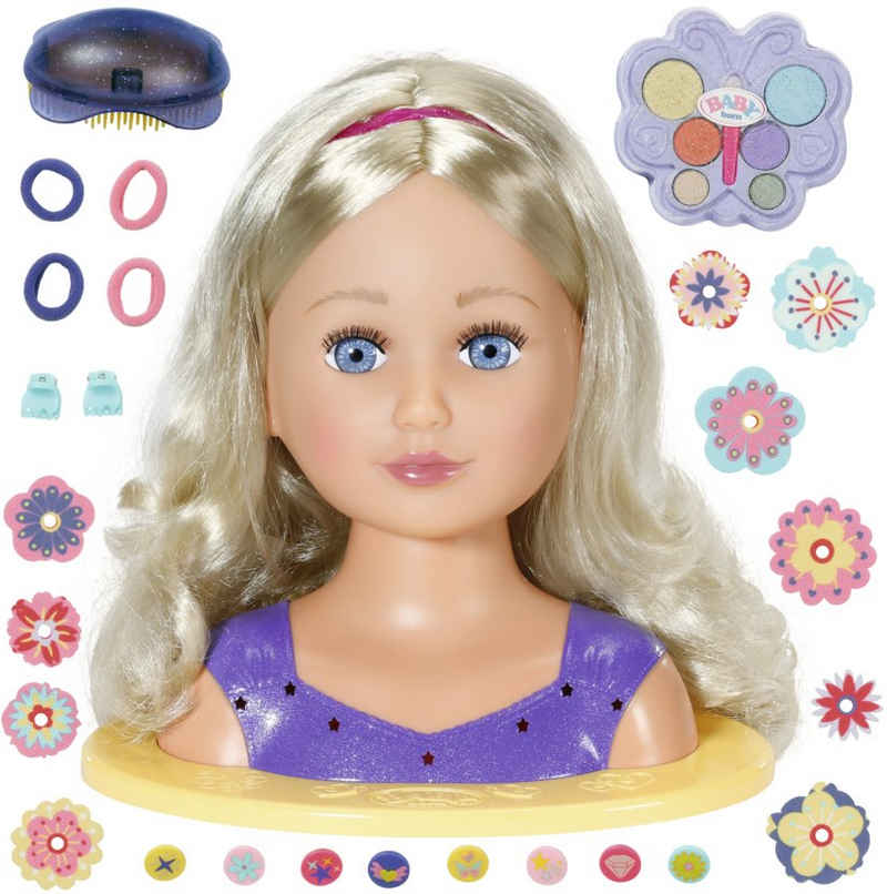 Baby Born Frisier- & Schminkkopf »Sister Styling Head, lila«, mit 24 tollen Accessoires