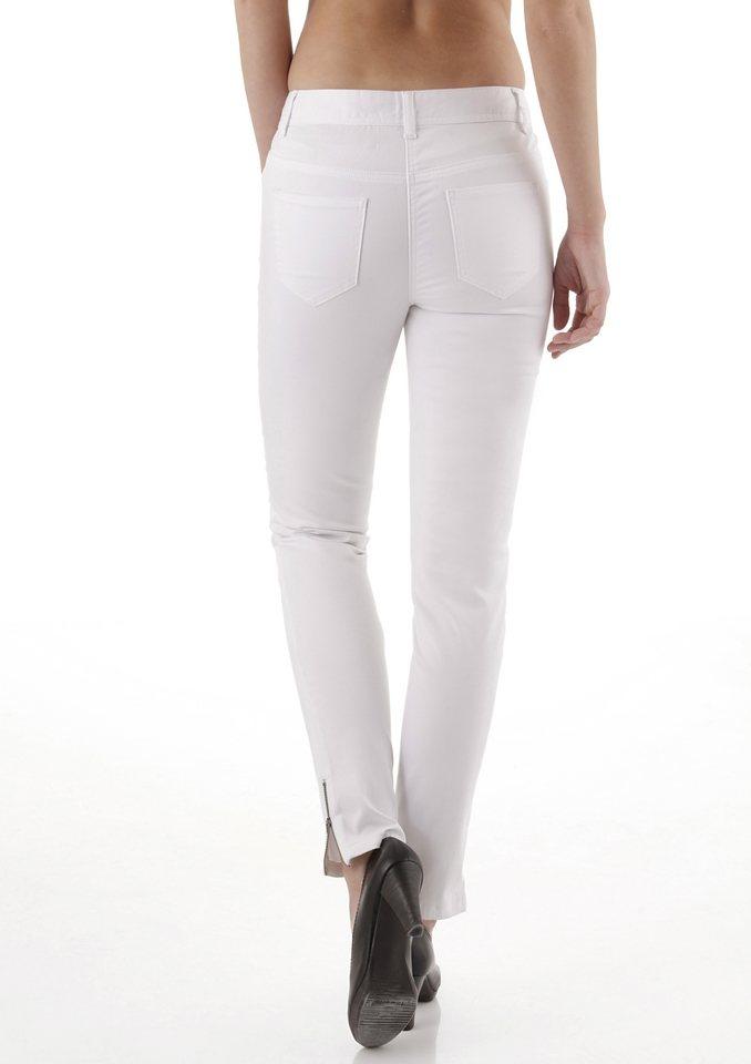 Tamaris 5-Pocket-Hose in weiß