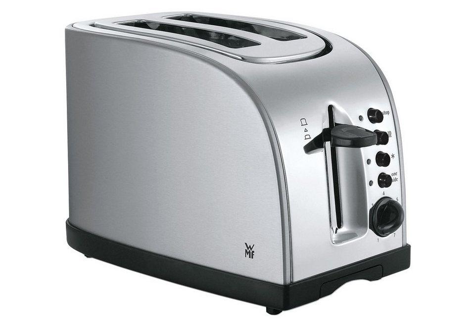 WMF Toaster Stelio, mit Bagelfunktion, 900 Watt, Edelstahl in Edelstahl
