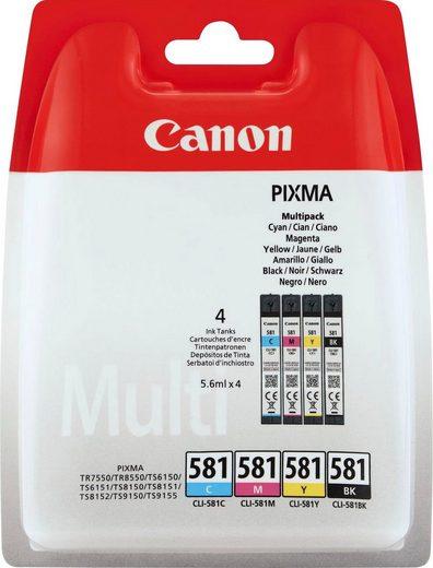 Canon »CLI-581 BK/C/M/Y Multipack« Tintenpatrone (Packung)