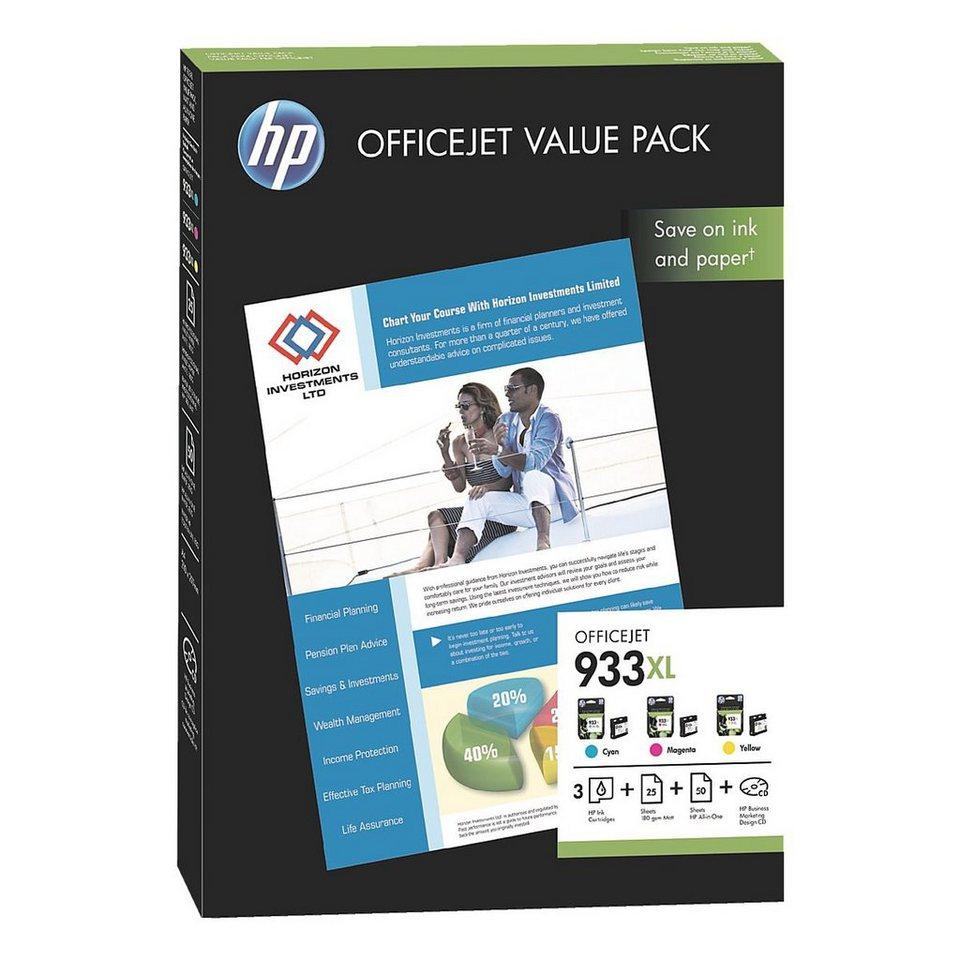 HP Tintenpatronen-Set »HP CR711AE« HP 933XL mit Papier