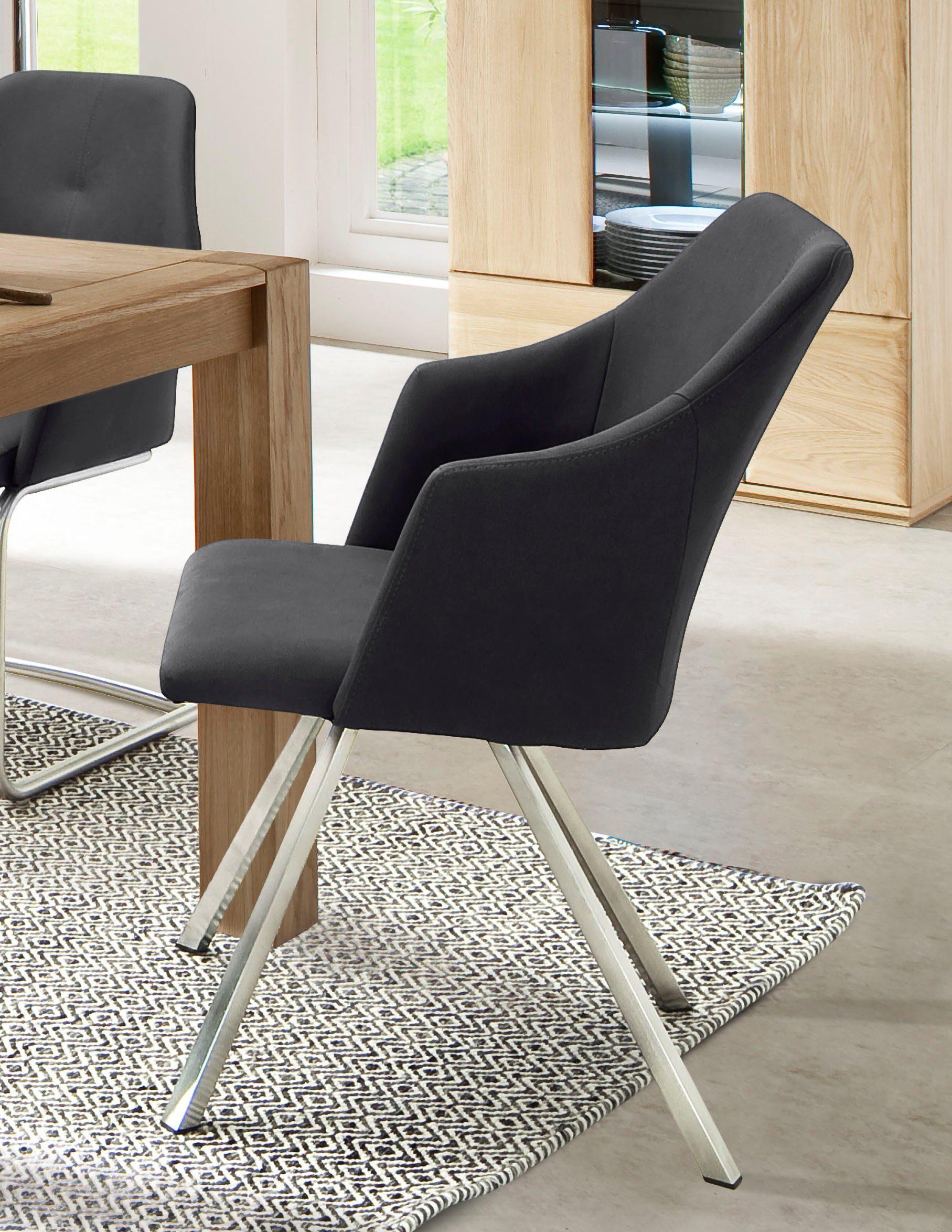 MCA furniture Esszimmerstuhl »Madita 4 Fuß Stuhl B eckig« 2er Set, Stuhl belastbar bis max. 140 kg online kaufen   OTTO