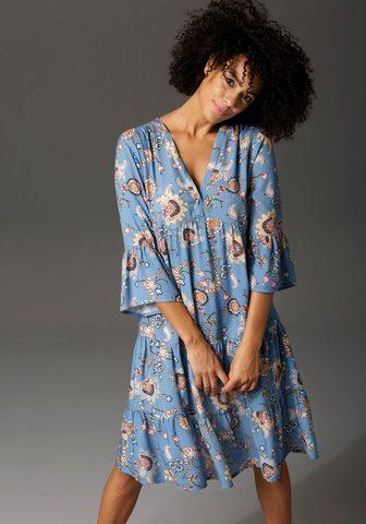 Aniston CASUAL Suknelė-tunika su fantasievollem Blume...