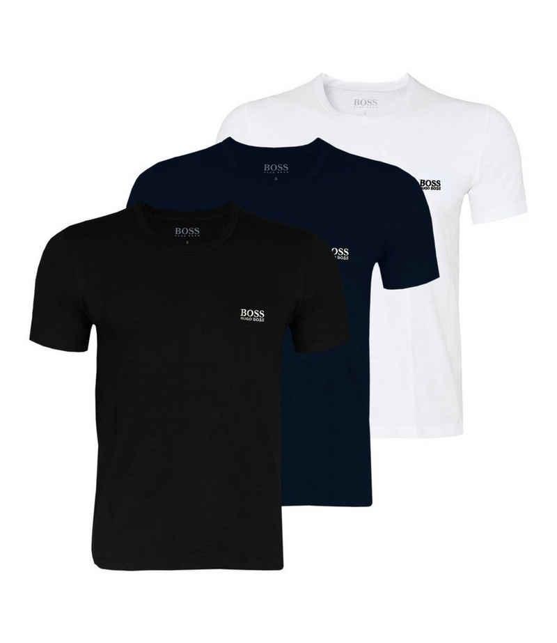 Boss Unterziehshirt »Herren Business T-Shirts« (3 Stück), mit fein geripptem Rundhalsausschnitt