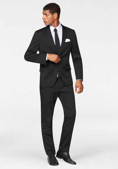 Herren Anzug Männer Anzug bruno banani  Schwarz  besser als Bilder  Model 14