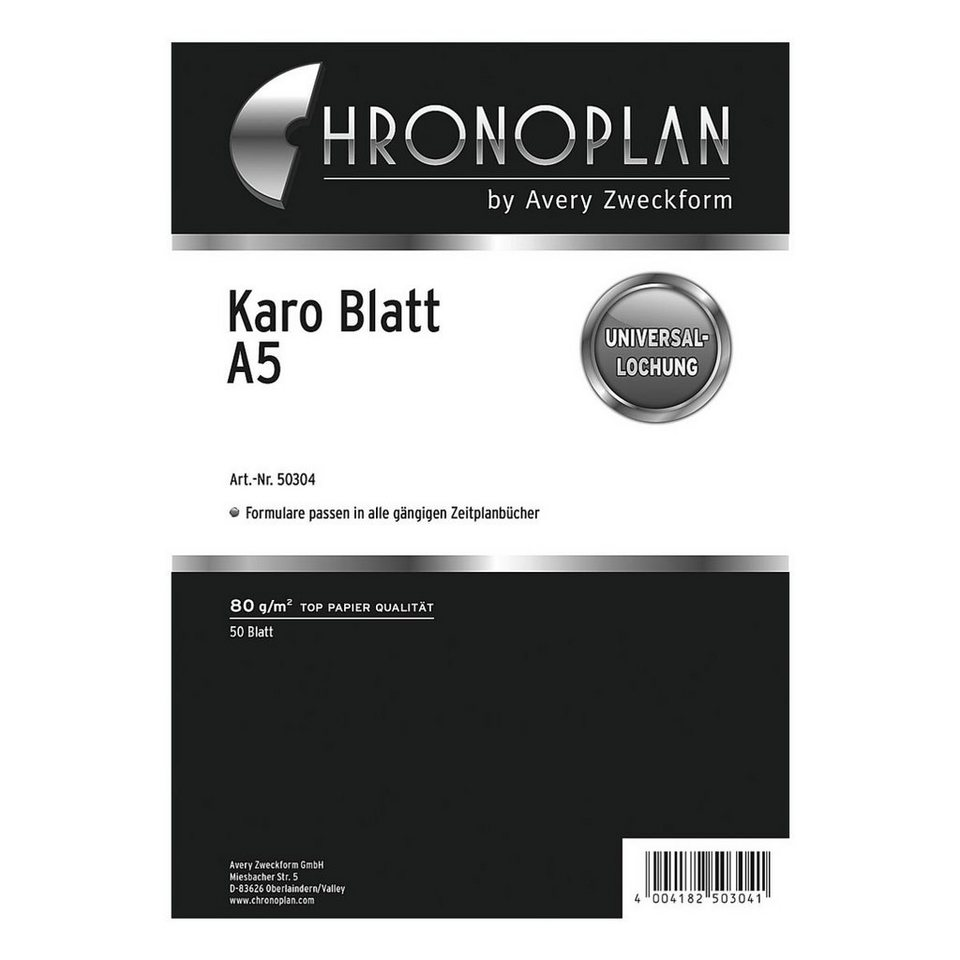CHRONOPLAN Kalendereinlage »Karo«