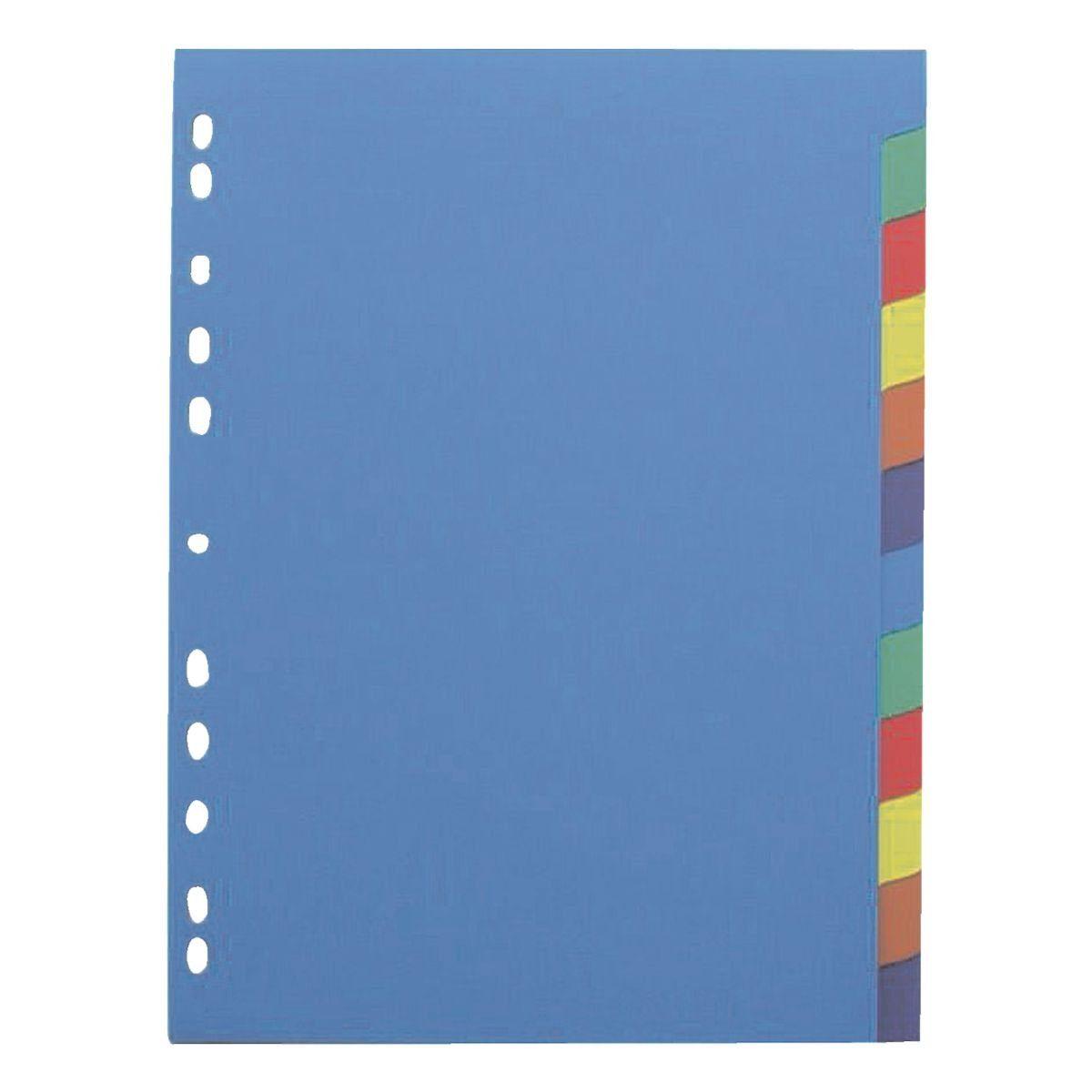 OTTO_OFFICE_PREMIUM Kunststoffregister 12-teilig blanko A4 blau/farbig
