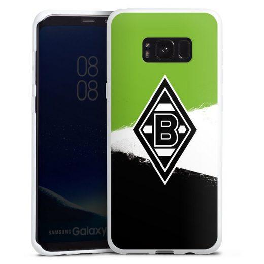 DeinDesign Handyhülle »Borussia Grunge Grün-Weiss-Schwarz« Samsung Galaxy S8 Plus, Hülle Gladbach Borussia Mönchengladbach