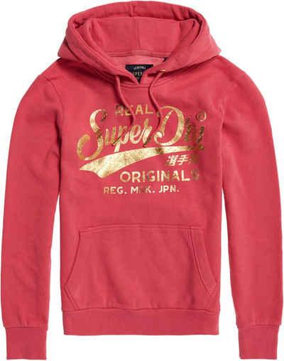 Neues Damen Superdry Cny Applique Polo Rot