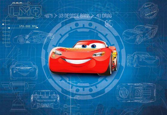 Komar Fototapete »Cars3 Blueprint«, glatt, Comic